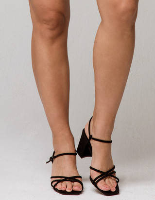 Bamboo Strappy Block Heels