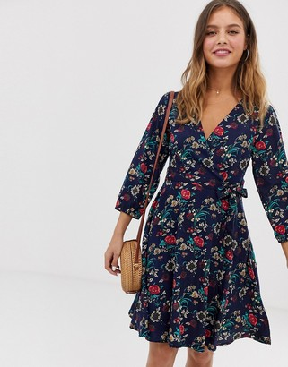 Yumi wrap dress in floral print
