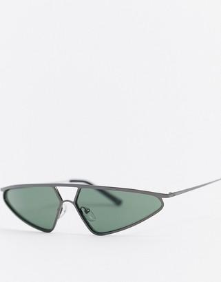 Jeepers Peepers gunmetal frame sunglasses