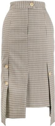 Eudon Choi Checked Asymmetric Pencil Skirt