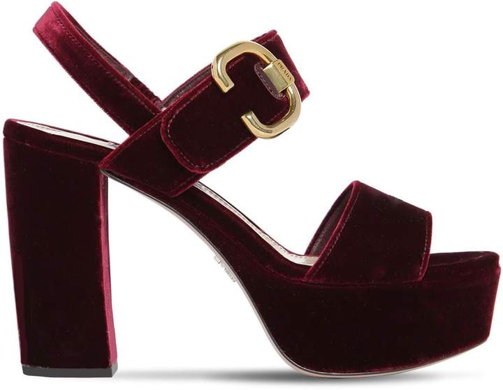 aadade15b Velvet Platform Sandals - ShopStyle
