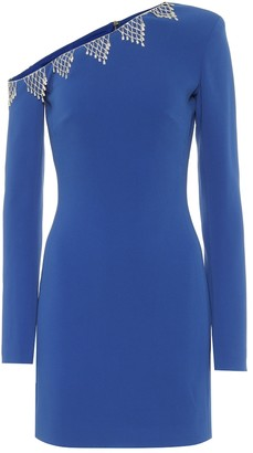 David Koma Exclusive to Mytheresa Embellished cady one-shoulder minidress