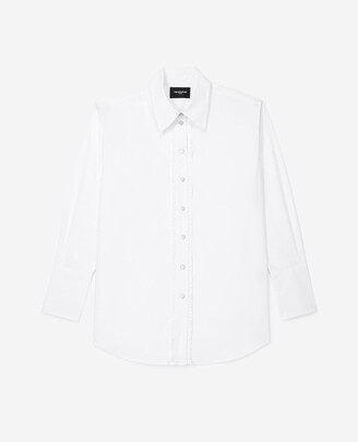 The Kooples White cotton shirt with frills