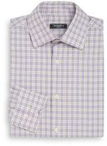 Saks Fifth Avenue Classic-Fit Glen Plaid Check Dress Shirt