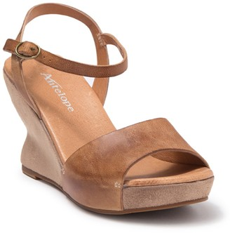 Antelope Hourglass Wedge Ankle Strap Sandal