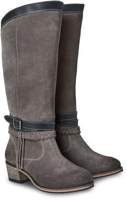 Joe Browns Beautiful and Boho Leather Boots - Grey