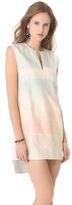 Osklen Sunrise Print Denim Dress
