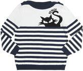 Fendi Sweater Mit Streifen- Und Katzenintarsie