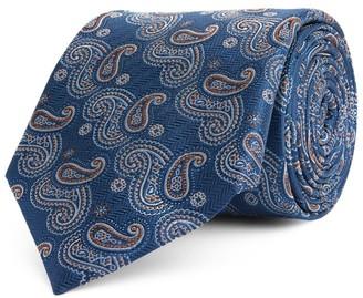 Canali Silk Paisley Print Tie