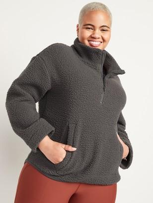 Old Navy Cozy Sherpa Half-Zip Sweatshirt for Women
