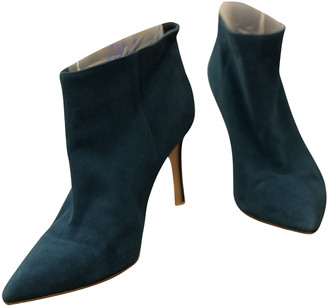 Gianvito Rossi Turquoise Suede Ankle boots
