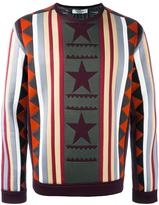 Valentino geometric panel sweatshirt