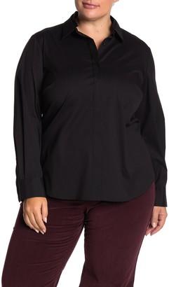 Lafayette 148 New York Phaedra Long Sleeve Shirt (Plus Size)