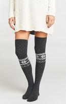MUMU Snowed In Knee High Sock ~ Charcoal