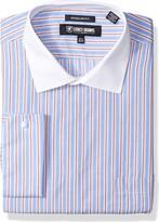 STACY ADAMS Mens Large Glen Check Classic Fit Dress Shirt