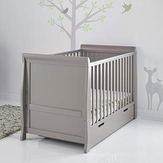 O Baby Obaby Stamford Sleigh Classic Cot Bed - Taupe Grey