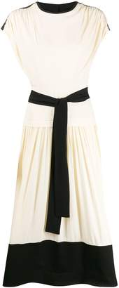 Proenza Schouler short-sleeved combo dress