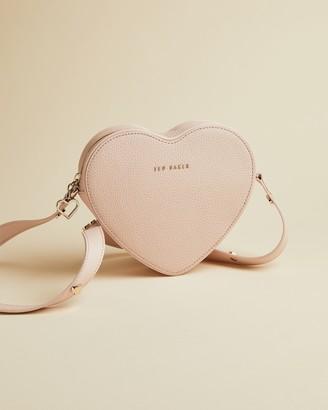 Ted Baker LOVERR Heart shaped leather cross body bag