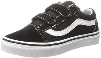 Vans Kids SINGLE SHOE - Old Skool V (Little Kid/Big Kid) (Black/True White) Kid's Shoes