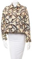 Diane von Furstenberg Double-Breasted Floral Jacket