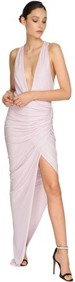 Alexandre Vauthier Embellished Jersey Long Dress