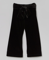 Mulberribush Black Sash Yoga Pants - Toddler & Girls