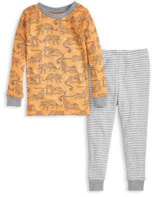 Burt's Bees Baby Snug Fit Organic Cotton Baby & Toddler Boy Long Sleeve Pajamas, 2pc Set