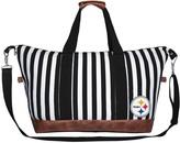 Unbranded Women's Pittsburgh Steelers Striped Weekender Bag