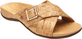 Women's Vionic with Orthaheel Technology Dorie Cross Strap Slide