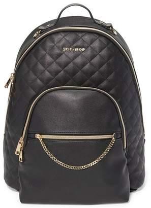 Skip Hop LINX Quilted Diaper Bag Backpack- Black
