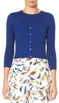 Carolina Herrera Jewel-Neck Button-Down Crop Cardigan