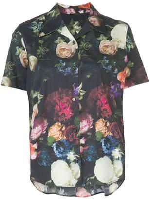 Adam Lippes Floral Trapeze Button Down Shirt