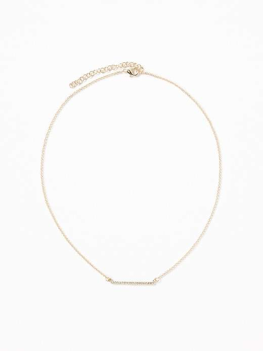 Old Navy Rhinestone-Bar Pendant Necklace for Women