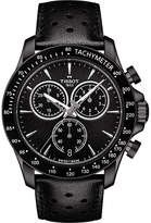 Tissot T106.417.36.051.00 V8 stainless steel and leather chronograph watch