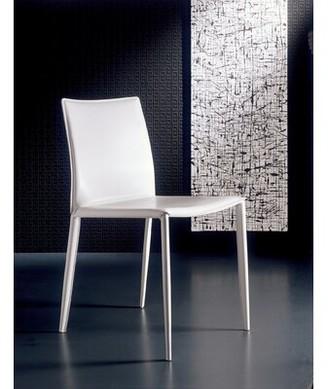Bontempi Casa Linda Genuine Leather Upholstered Dining Chair (Set of 2 Color: Sand / Sand Stitching