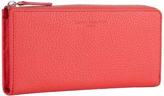 Richmond David Hampton Leather Zip Wallet In Jaipur Pink