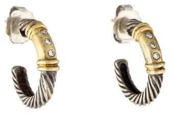 David Yurman Diamond Accented Hoop Earrings