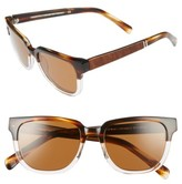 Shwood Women's 'Prescott' 52Mm Polarized Acetate & Wood Sunglasses - Black Olive/ Elm/ G15 Polar