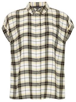 Dorothy Perkins Womens Lemon Check Print Shirt