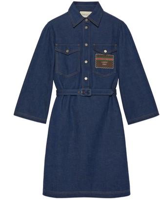 Gucci Short denim dress with Boutique