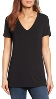 Petite Women's Halogen V-Neck Tunic Tee