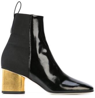 Proenza Schouler Metallic Heel Boot