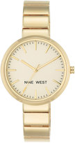Nine West Women's Gold-Tone Stainless Steel Bracelet Watch 36mm Nw-1986CHGB