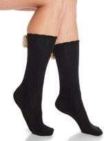 Jessica Simpson Faux Fur Pom Pom Knee High Socks