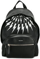 Neil Barrett lightning bolt backpack - men - Leather/Nylon - One Size