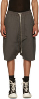 Rick Owens Grey Pods Shorts