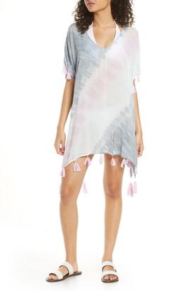 Surf.Gypsy Diagonal Tie Dye Cover-Up Caftan