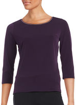 T Tahari Sumaya Three-Quarter Sleeved Top