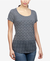 Lucky Brand Mixed-Print T-Shirt