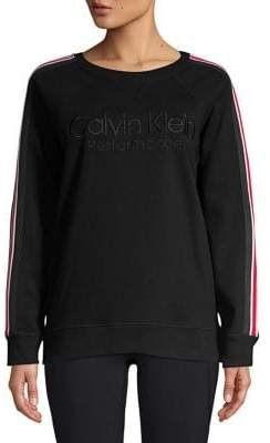 Calvin Klein Side Stripe Raglan-Sleeve Sweater